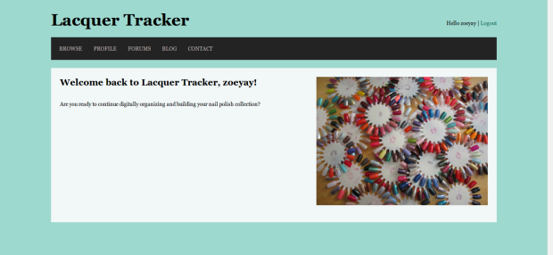 Lacquer Tracker homepage
